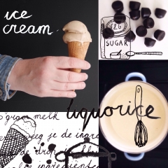 Liquorice Ice Cream- Esmee Aarbodem